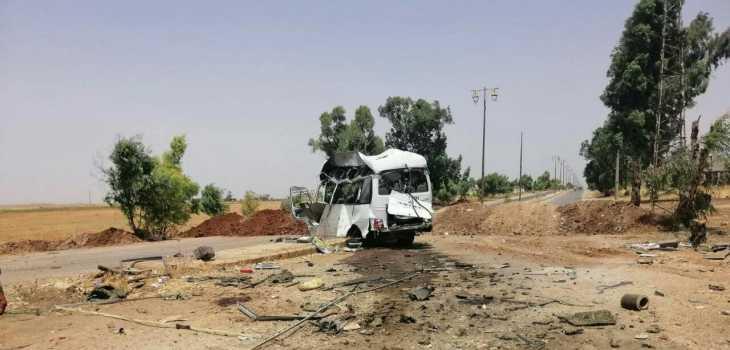 مصرع وإصابة العشرات .. تفجير يستهدف حافلة لميلشيات النظام في درعا