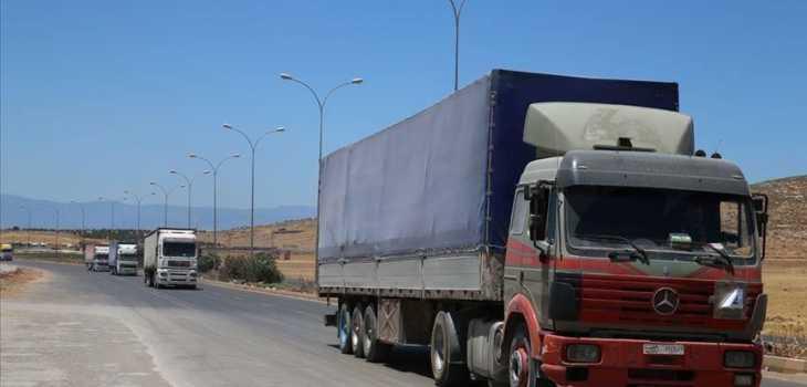 65 شاحنة مساعدات أممية تدخل إدلب