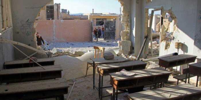 منسقو الاستجابة: القصف الروسي الأسدي استهدف 91 مدرسة في إدلب وحماة