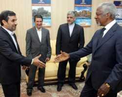 أنان في إيران لبحث الأزمة السورية