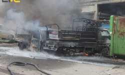 طيران الأسد الحربي يرتكب مجزرة جديدة .. عشرة شهداء في قصف جوي على إدلب