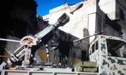 المدفع القناص الذي نجحت كتيبة إمام المتقين التابعة للمعارضة المسلحة بحلب في تطويره