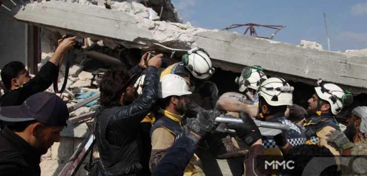 قصف روسي بالصواريخ الفراغية يوقع مجرزة جنوب إدلب