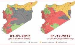 إنفوجرافيك: خريطة النفوذ العسكري في سورية 2017