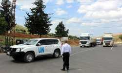 56 شاحنة مساعدات أممية تدخل إدلب